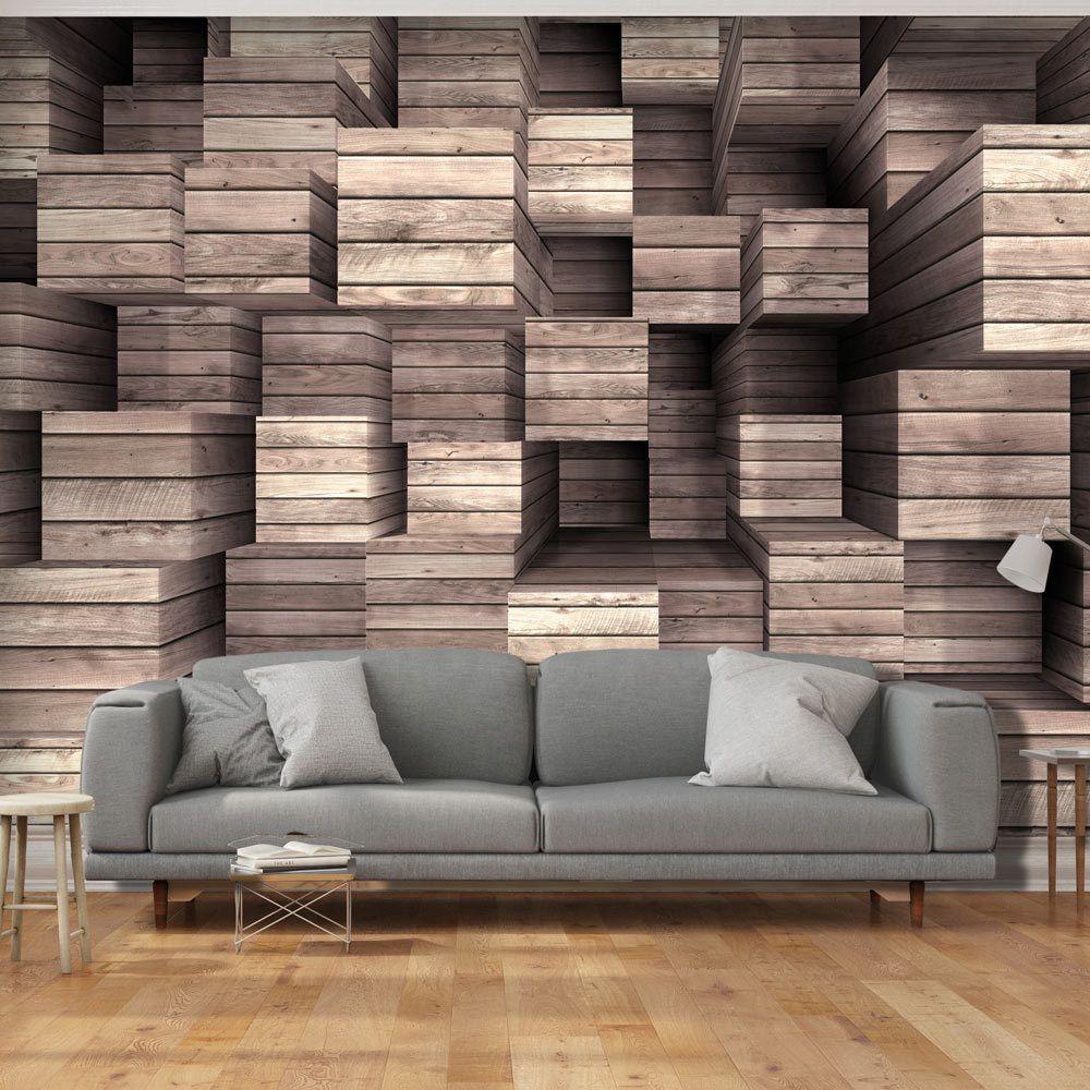vlies fototapete 3 farben zur auswahl tapeten holz 3d. Black Bedroom Furniture Sets. Home Design Ideas