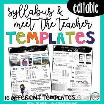 Syllabus And Meet The Teacher Editable Infographic Templates