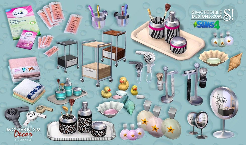 Lana cc finds modernism add ons bathroom by for Bathroom decor sims 3
