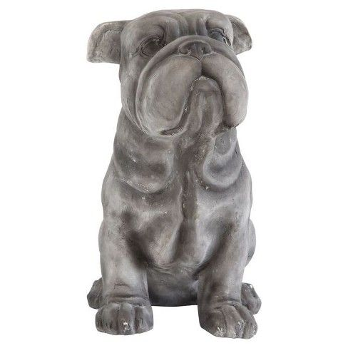 Magnesia Bulldog Decorative Sculpture 14 5 3r Studios Bulldog