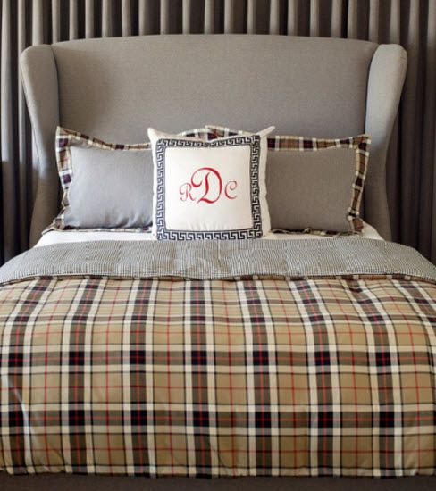 Preppy Home: Part Of HGTV's Preppy Home, This Plaid Seems More Like