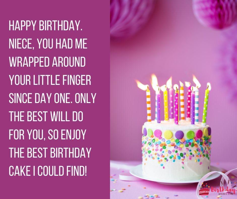 Birthday Message To My Niece Happy Birthday Wishes Birthday Message To Myself Birthday Wishes For Myself