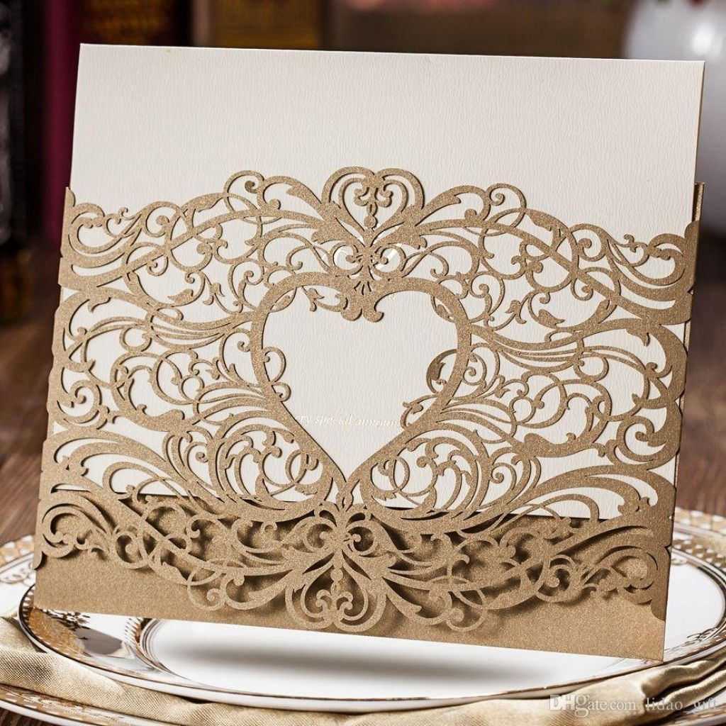 laser cut wedding invitations wholesale Check more image at http