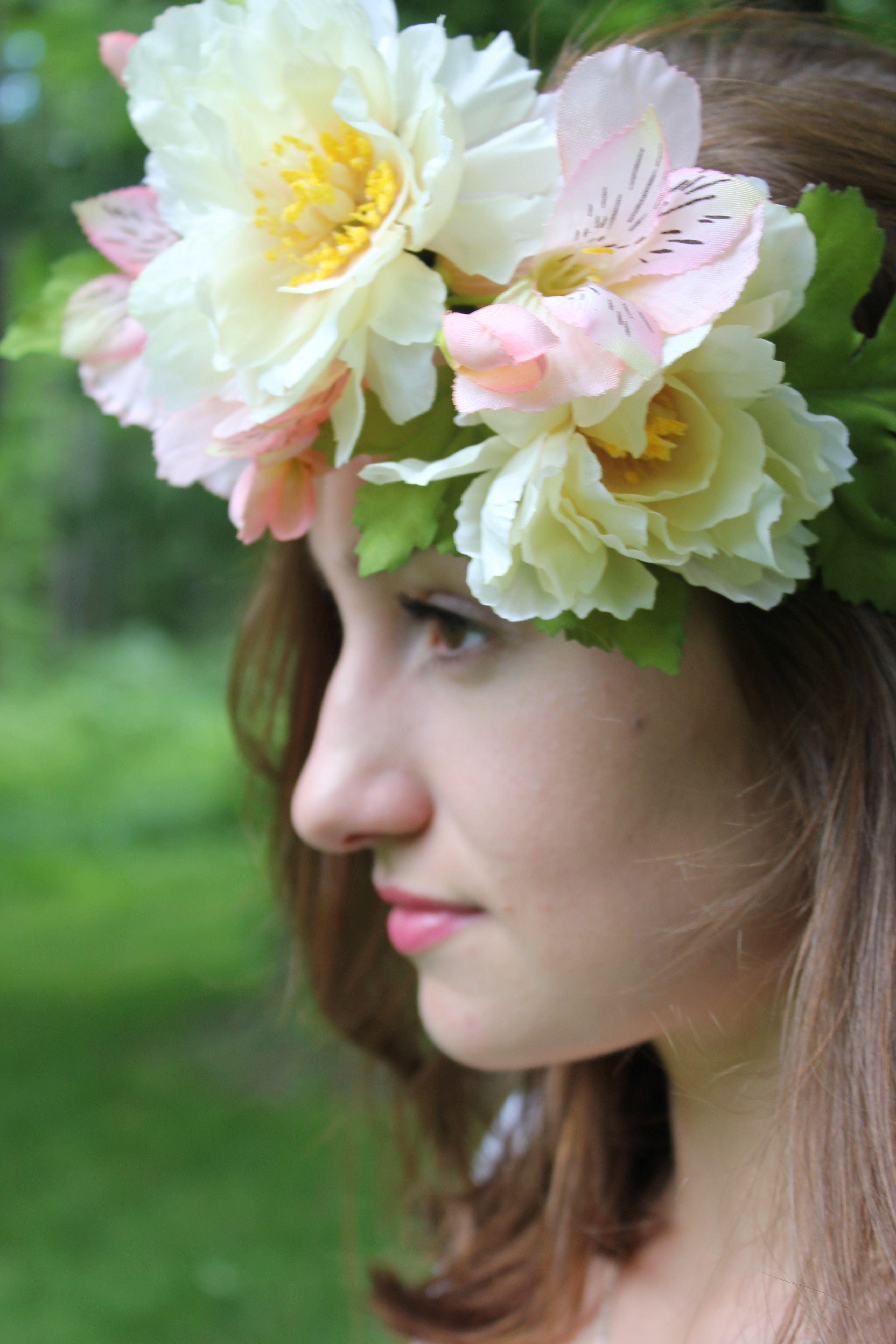 Faux flower crown designed by cameron fairbanks pinterest faux flower crown izmirmasajfo