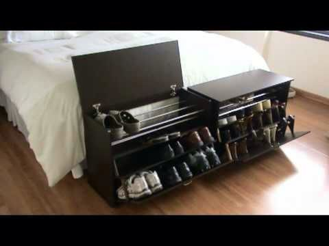 Zapatera y pie de cama pr ctica y organizada pinterest for Modelos de zapateros