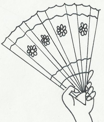 Imagenes de dibujos para pintar en tela de abanicos - Abanicos para pintar ...