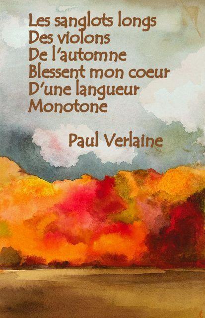Paul Verlaine - Chanson d'automne | Genius
