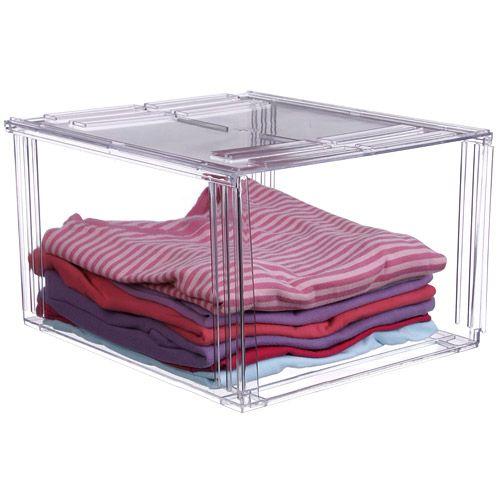 Crystal Clear Clothing Storage Bin Image Clear Storage Bins Kids Clothes Storage Clothing Storage
