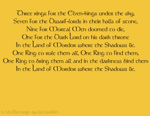 Lord Of The Rings Quotes With Pictures | Lord Of The Rings One Ring Quote