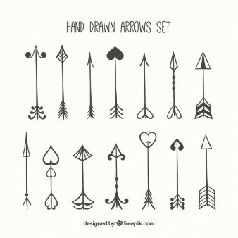 Set de flechas dibujadas a mano  vinilos  Pinterest  Flecha