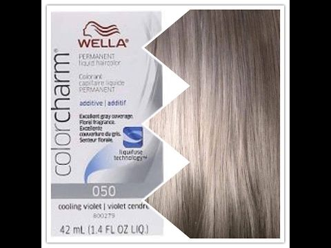 How To Get Gray Hair Wella Cooling Violet 050 Youtube