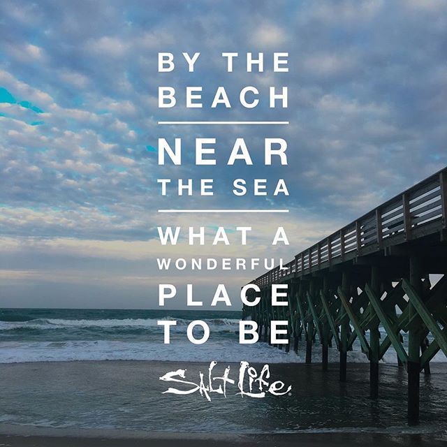 Instagram Beach Quotes: By The Beach, Near The Sea, What A Wonderful Place To Be