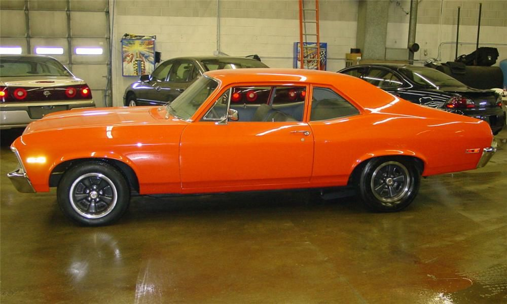 Orange Chevy Nova I Love This My Man Has A 77 Chevy