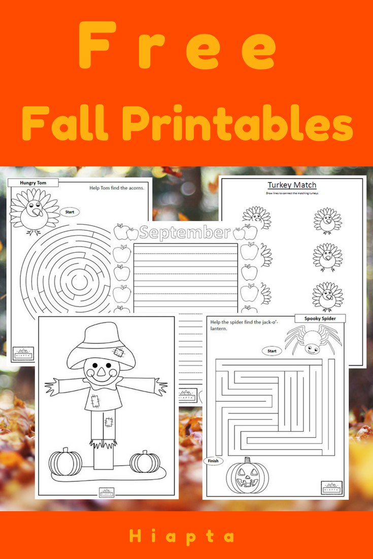 Get your free fall printables now falltheme coloring sheets