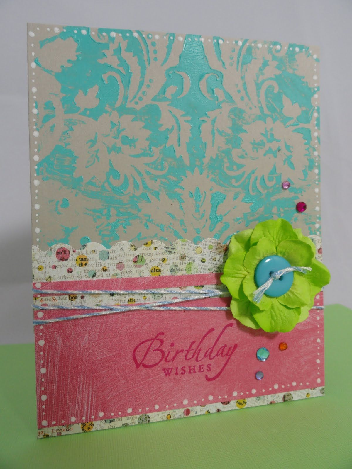 Birthday Wishes Card by Jessica Hess