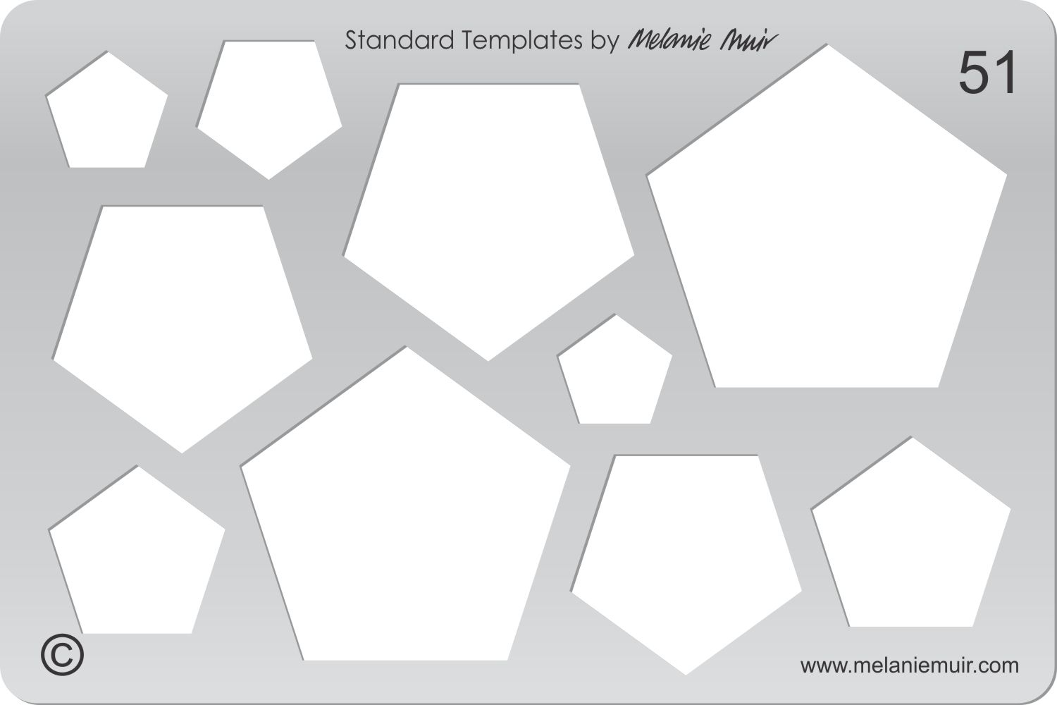 Acrylic template No. 51. Perfect for creating a wide variety of polymer, metal or clay bracelet, necklace, pendant and earring designs.