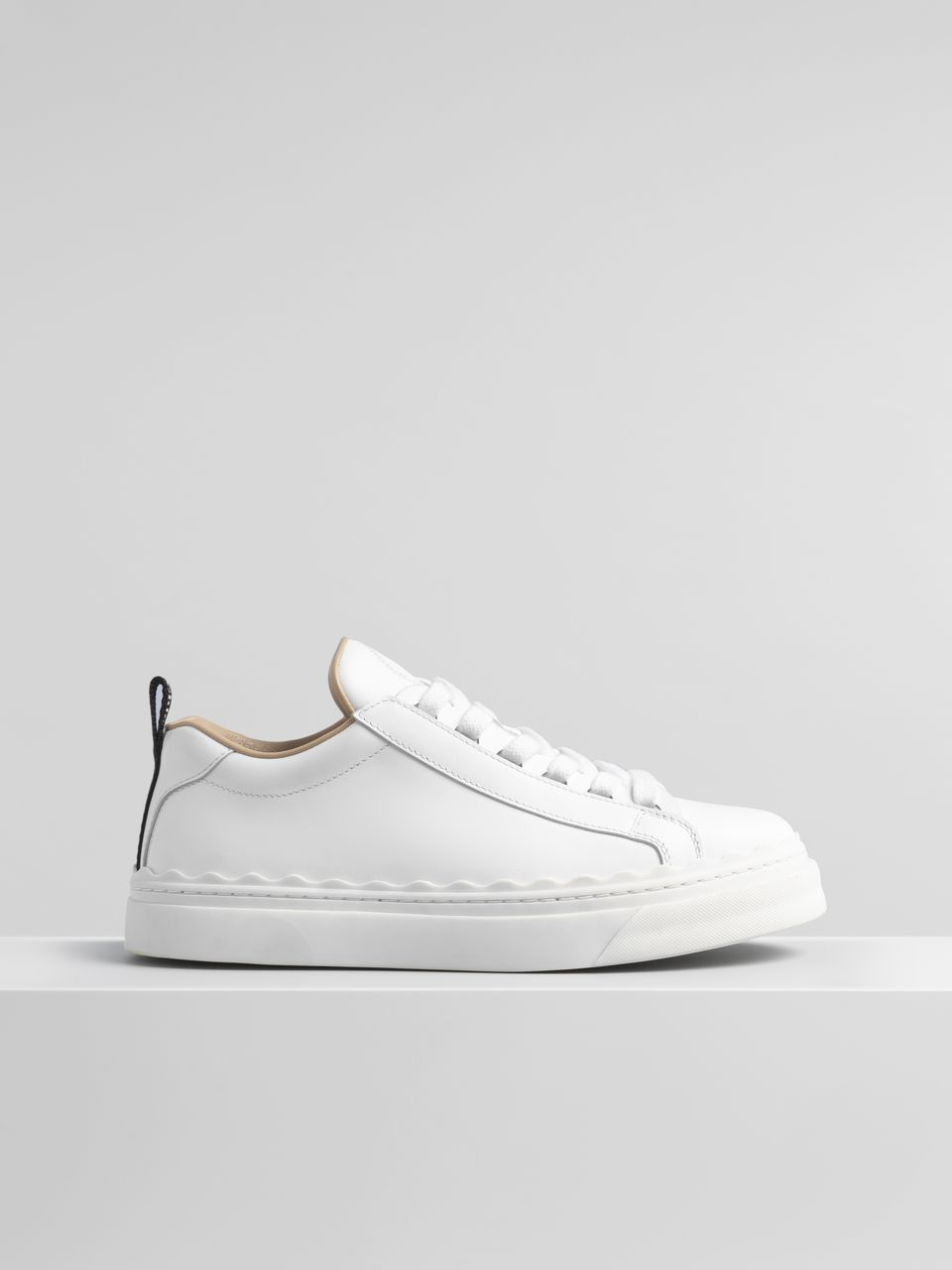 f56ca775114c5 Chloé - Lauren sneaker in smooth white calfskin ( 495) White Sneakers
