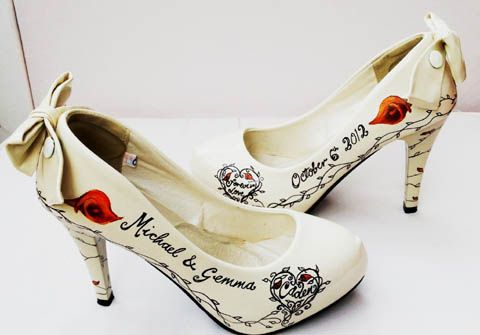 17 Best images about Wedding shoe ideas on Pinterest   Beautiful ...