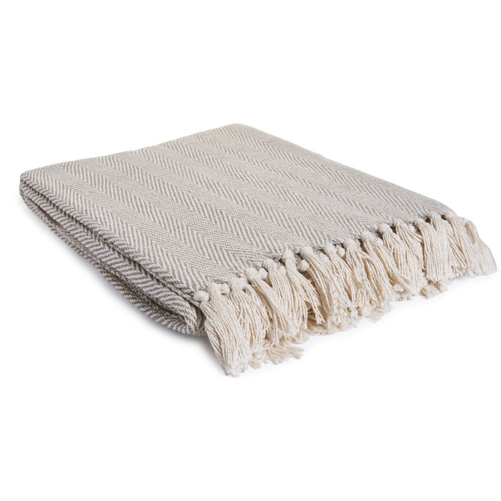 Herringbone Throw Natural 127 x 152cm | ideas for our new nc ...