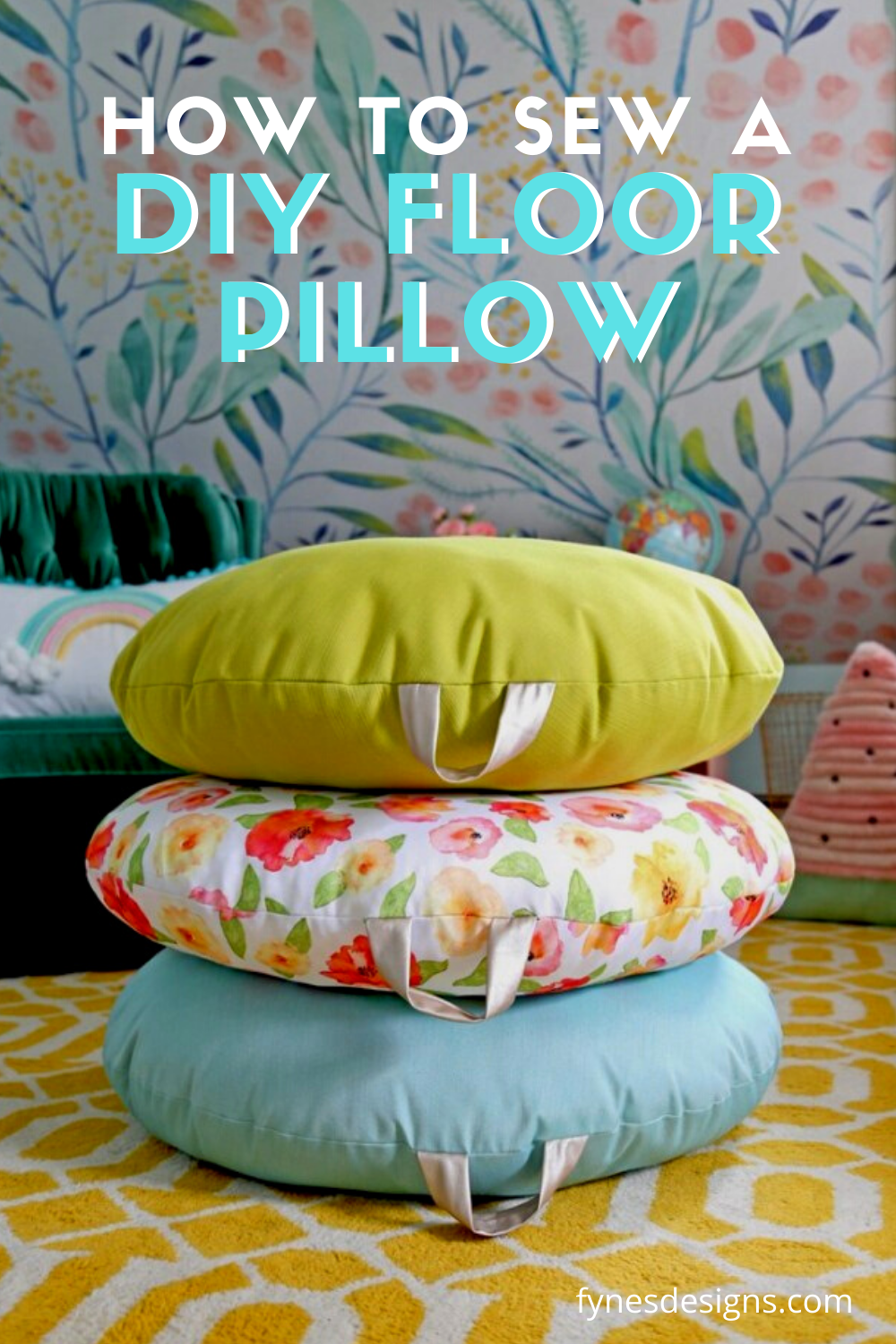 How To Sew A Diy Floor Pillow A Step By Step Tutorial In 2020 Diy Flooring Floor Pillows Pillows