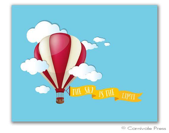 Hot Air Balloon Nursery Inspirational Nursery Decor Playroom Wall