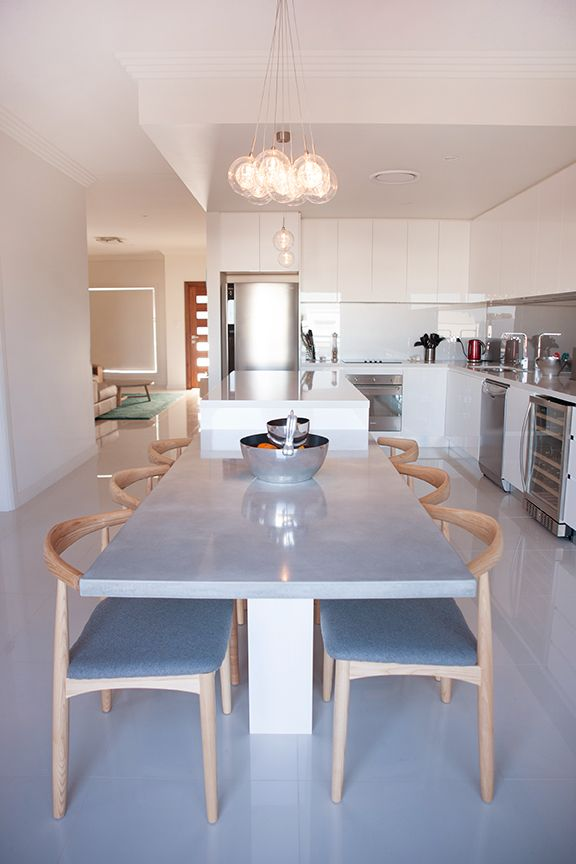 Kitchen Design Consultation Adorable Concrete Table At The End Of The Island  352 Pearl Kitchen Review