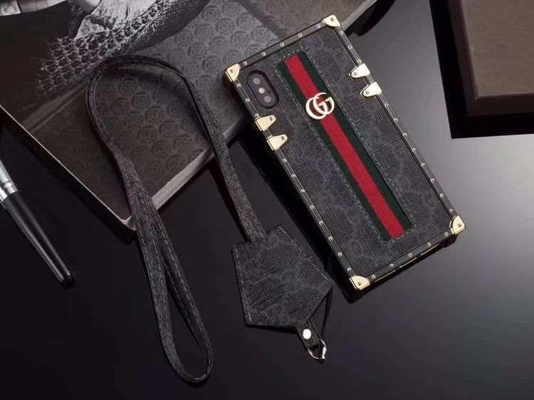 2658 gucci faux leather ribbon lanyards cases shell for