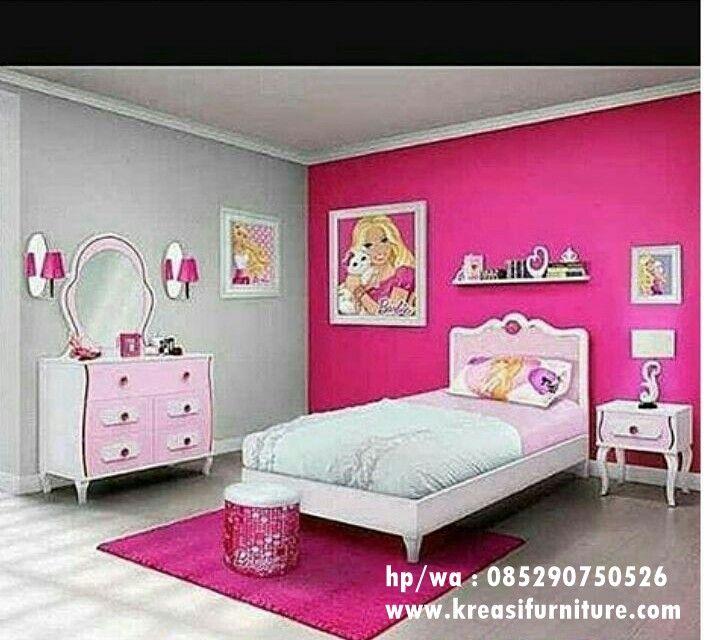 Set Kamar Tidur Anak Perempuan Kreasi Furniture Jepara Tempat Tidur Anak Kamar Tidur Anak Perempuan Desain Interior