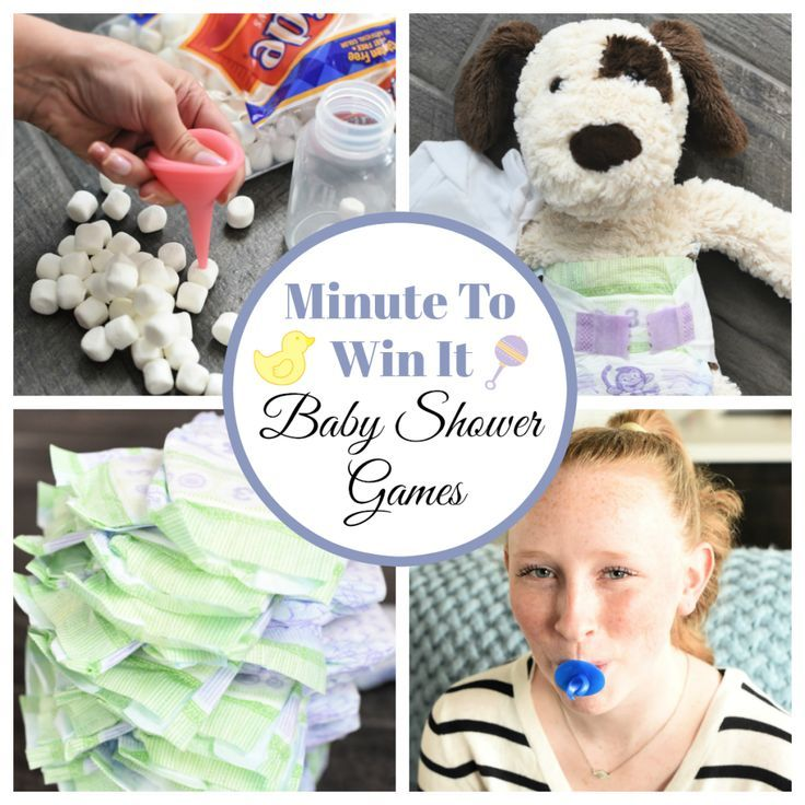 Fun Minute to Win It Baby Shower Games  Shower games