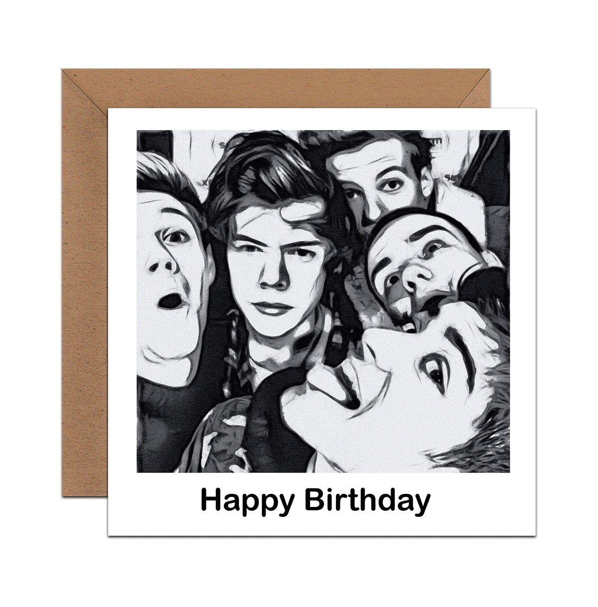 Harry Styles Birthday Card In 2021 Harry Styles Birthday 16th Birthday Card Birthday Cards