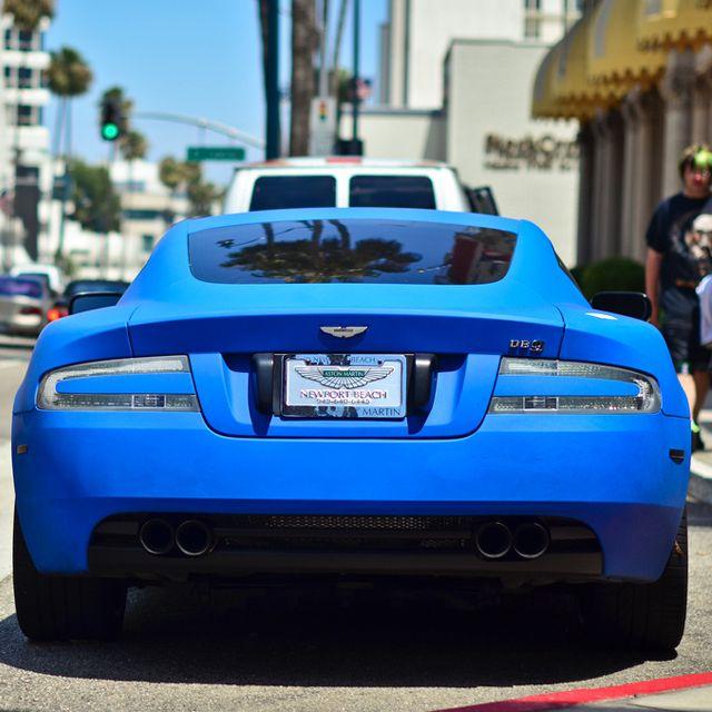 Matte Blue Aston Martin Db9 Sickk Paint Job Astonmartindb9 Astonmartin