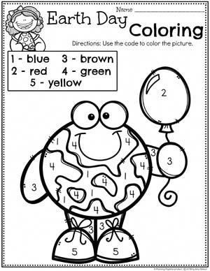 Earth Day Coloring Page for Preschool #planningplaytime #