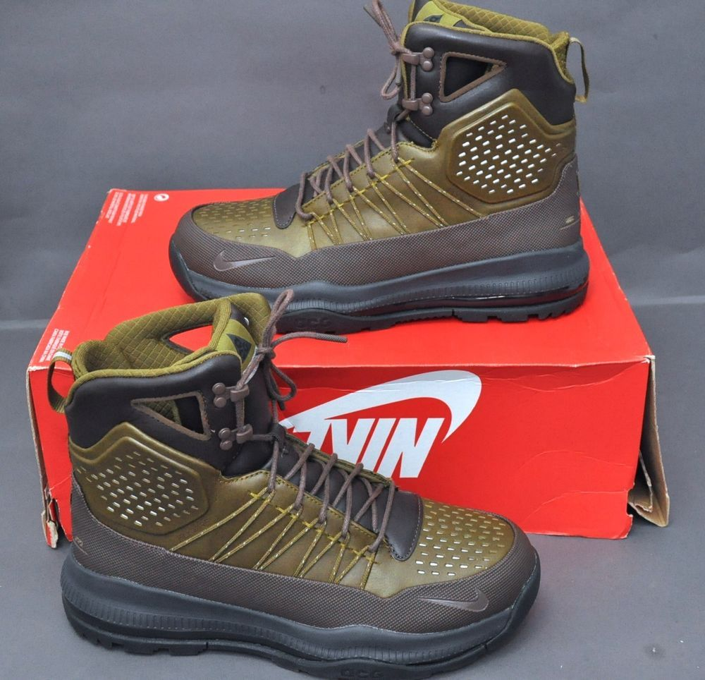 Botas Nike Zoom Superdome para hombre Barogue Brown Olive Flak Green 9