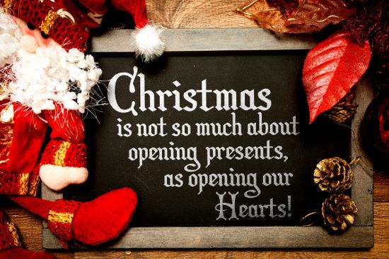Christmas is about opening hearts. © gustavofrazao | dollarphotoclub.com