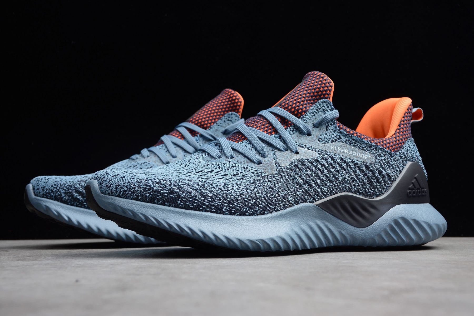 new arrival 4258d 73797 adidas Alphabounce Beyond Raw GreyHi-Res Orange-Legend Ink Shoes AQ0574