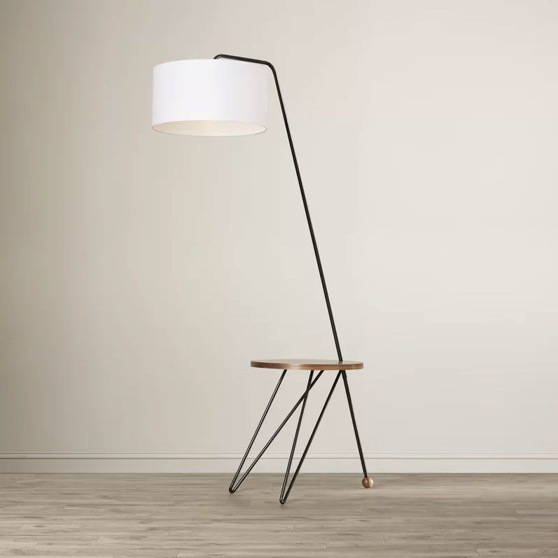 10 Floor Lamps With Tables Attached That Don T Look Like Your Grandma S Arched Floor Lamp Floor Lamp Diy Floor Lamp