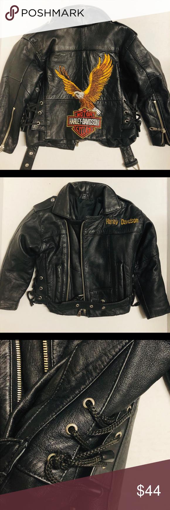 Harley Davidson Toddler Biker Jacket Biker Jacket Biker Style Harley Davidson Jacket [ 1740 x 580 Pixel ]