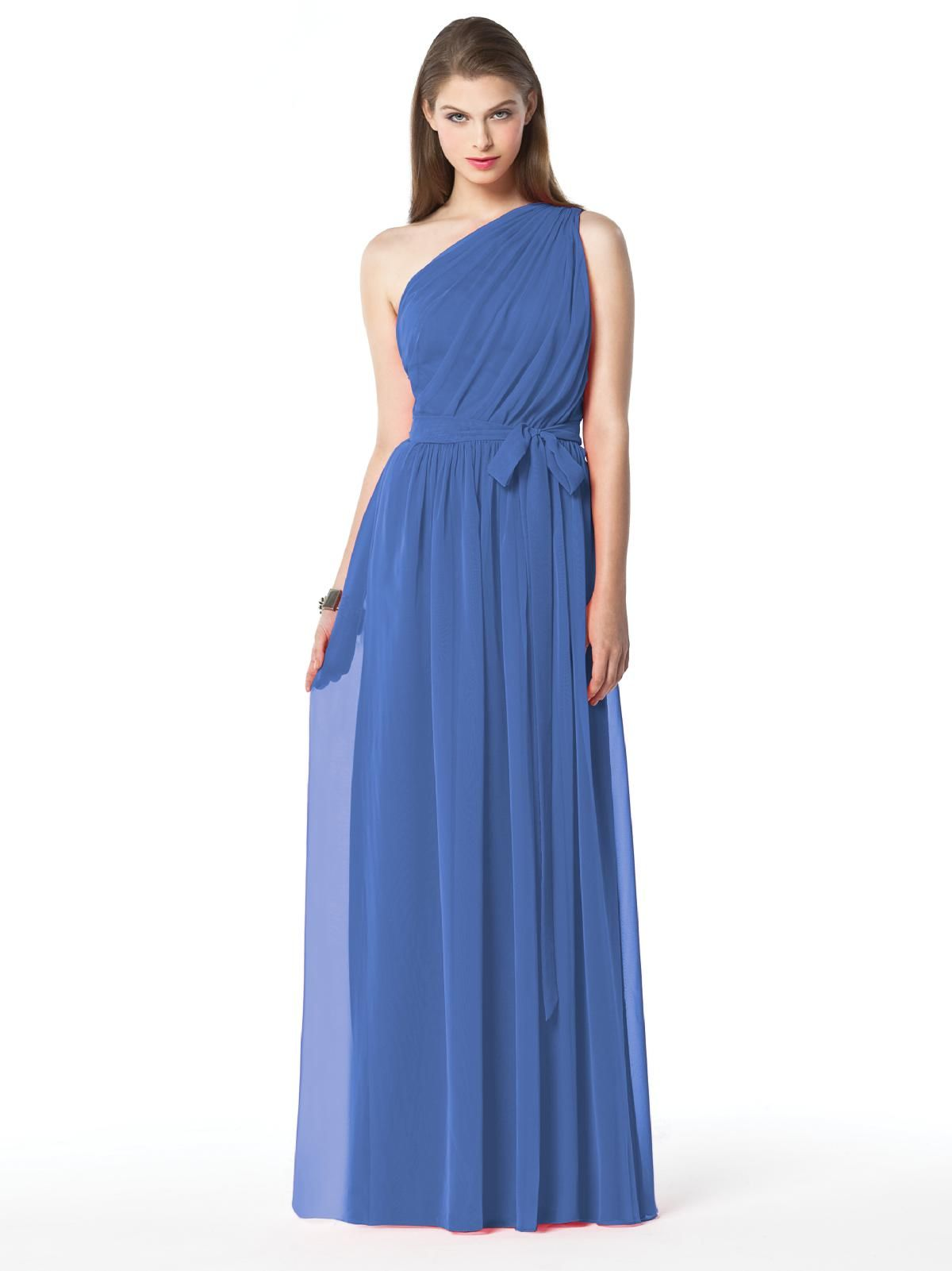 Dessy one shoulder bridesmaid dress in cornflower blue nautical dessy one shoulder bridesmaid dress in cornflower blue ombrellifo Images