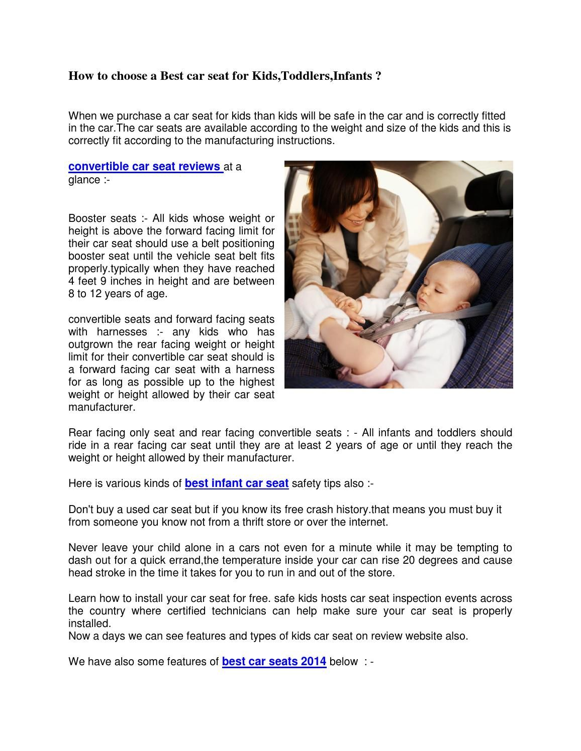 how to choose a best car seat for kidstoddlersinfants bambini ai primi passi auto e bambino