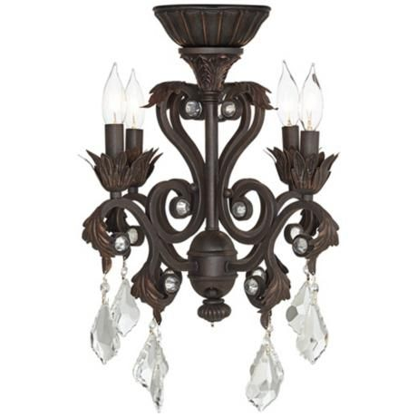 4 Light Oil Rubbed Bronze Chandelier Ceiling Fan Light Kit $180
