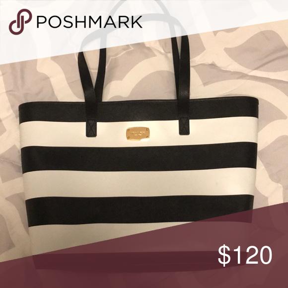 Striped Handbag Michael Kors Shoulder Bag Bags