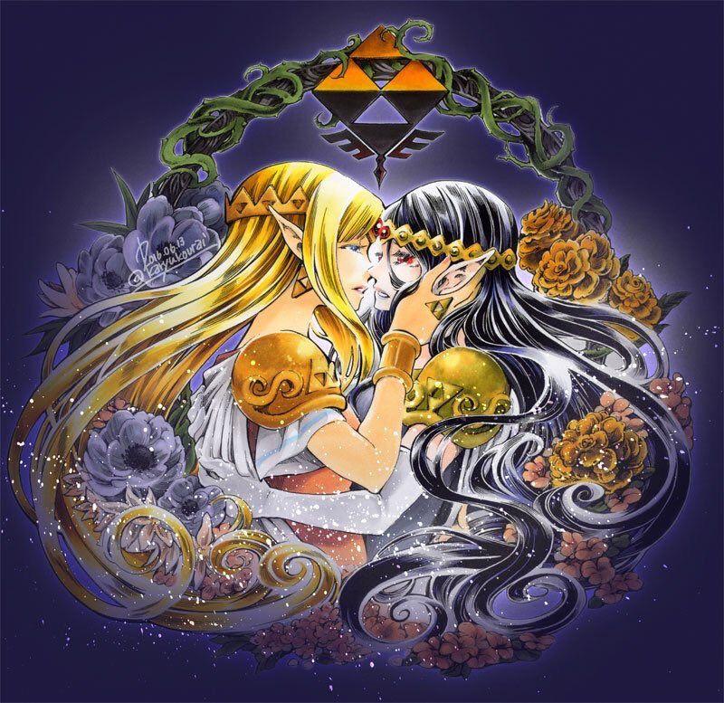 Princesses Zelda and Hilda by @karyukourai | #ALBW