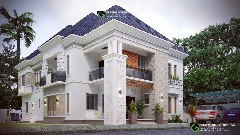 Architectural Design Of A Proposed 7 Bedroom Duplex Nigeria On A Plot Of 450sqm All Rooms Ensu Duplex House Design Building House Plans Designs Duplex Design