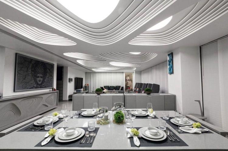 Indirekte LED Beleuchtung durch Lichtpaneele mit eindrucksvollem - wohnzimmer beleuchtung indirekt