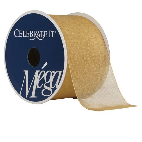 "2.5"" Sheer Wired Ribbon By Celebrate It Mega"