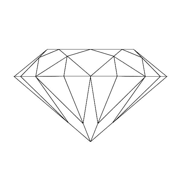 Diamond Shape Coloring Pages For Kids Shape Coloring Pages Coloring Pages Diamond Drawing