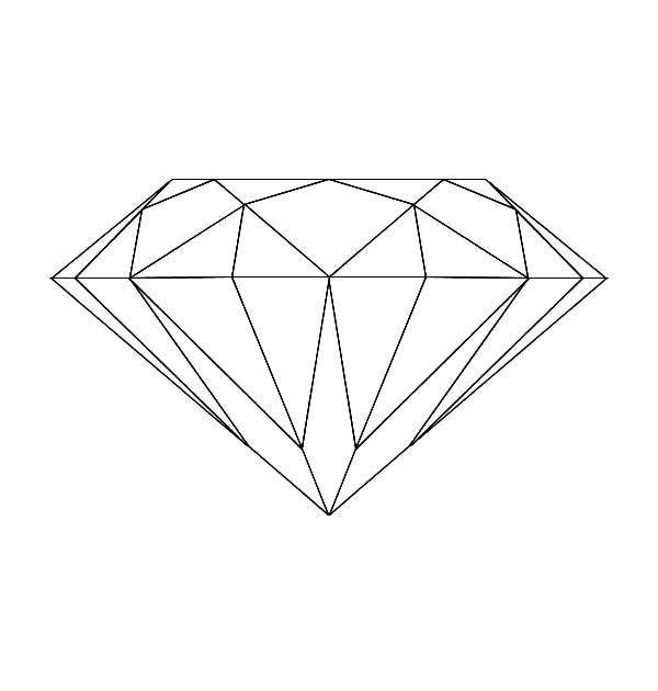 Diamond Shape Coloring Pages For Kids Shape Coloring Pages Coloring Pages Diamond Drawing