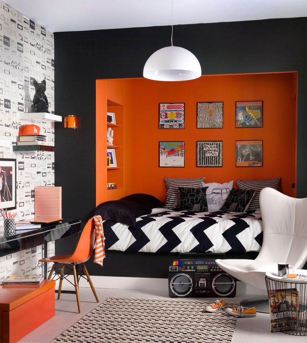The Best Of The Best Modern Lighting Ideas Ylighting Boy Bedroom Design Teenager Bedroom Boy Bedroom Orange