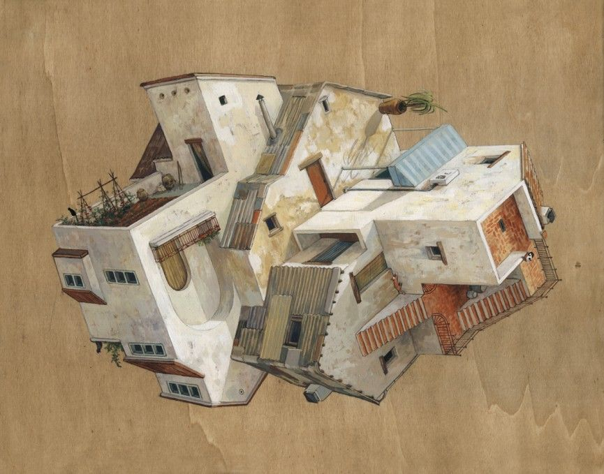 The Gravity Defying Architectural Paintings Of Cinta Vidal