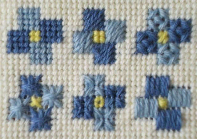 Blue Doodles Needlepoint Pattern: Blue Doodles Needlepoint Pattern